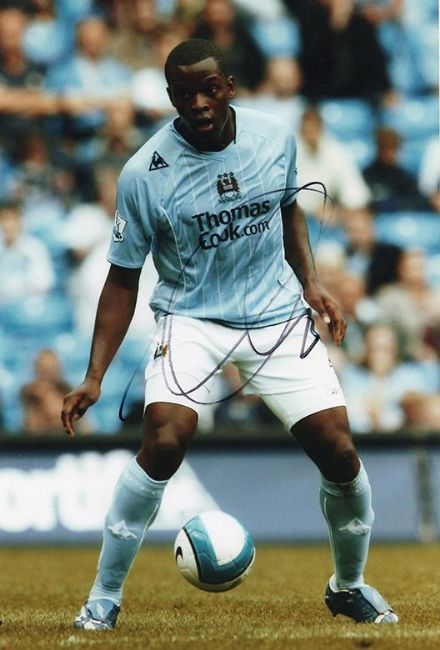 Nedum Onuoha, Manchester City, signed 12x8 inch photo.